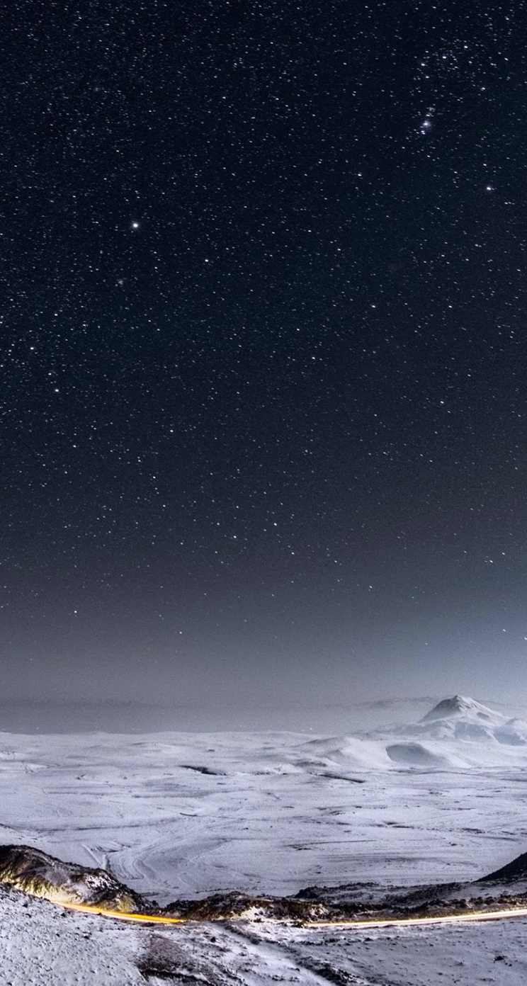 Cool Wallpaper Night Iphone 5 - Night-Stars-Mountain-Range-Winter-Landscape-iphone-5s-parallax-wallpaper-ilikewallpaper_com  HD-49132.jpg